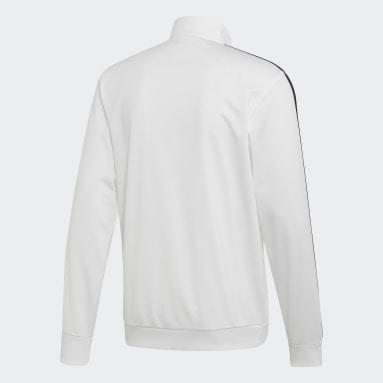 Veste de survêtement Essentials 3-Stripes Tricot blanc Hommes Essentials