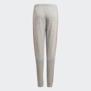 Pantalon adidas Essentials 3-Stripes French Terry Gris Filles Sportswear