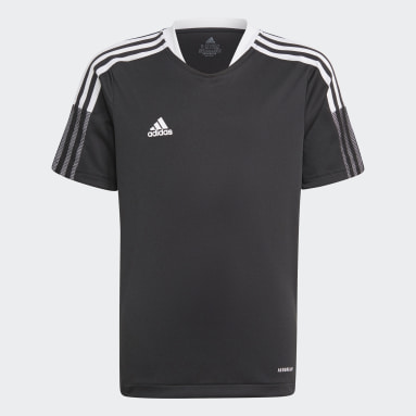 Kids Football Black Tiro 21 Training Jersey