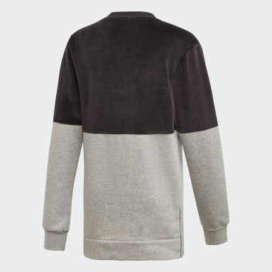 Youth Training Black ID Long Crew Sweatshirt