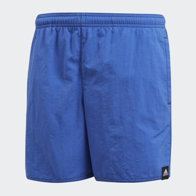 Boys Swimming Blue Solid Swim Shorts
