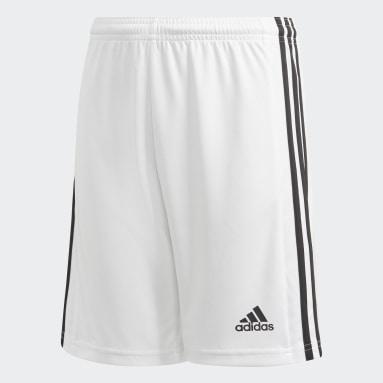 Short Squadra 21 Blanc Garçons Football
