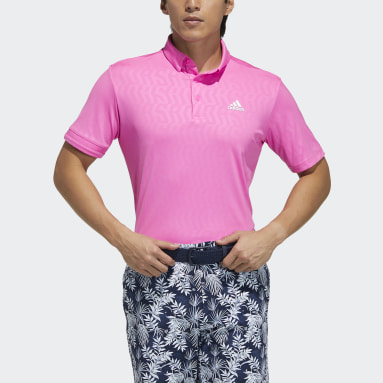 Men Golf Pink Polo Shirt