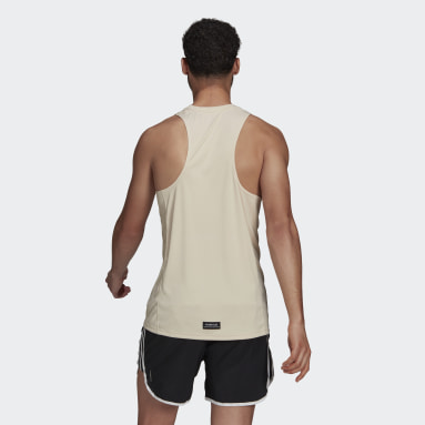 Camiseta sin mangas Run for the Oceans Graphic Beige Hombre Running