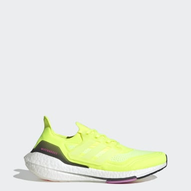 Running Yellow Ultraboost 21 Shoes