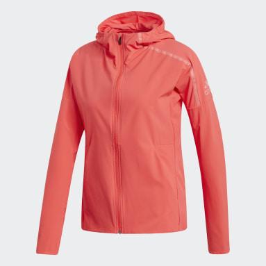 Jaqueta adidas Z.N.E. Vermelho Mulher Running