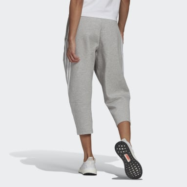 Women's Sportswear Grey adidas Sportswear Z.N.E. Wrapped 3-Stripes 7/8 Pants
