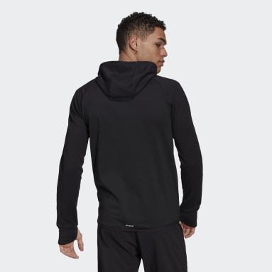 Erkek Training Siyah adidas Designed To Move Motion Full-Zip AEROREADY Kapüşonlu Üst