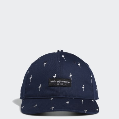 Men Golf Blue Golf Flamingo-Print Hat