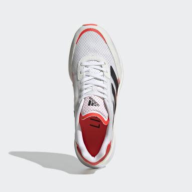 Women's Running White Adizero Boston 10 Shoes