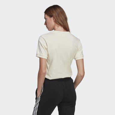 T-shirt Adicolor Classics 3-Stripes Blanc Femmes Originals