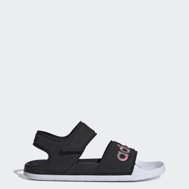 Women's Yoga Black Adilette Sandals