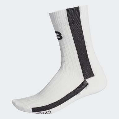 Y-3 White Y-3 Logo Socks