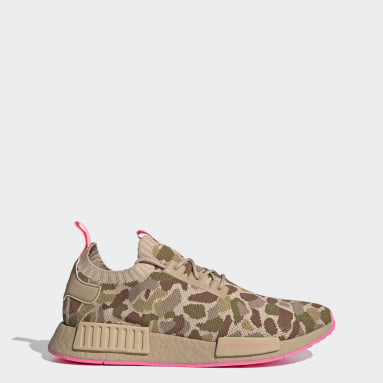 Men Originals Beige NMD_R1 Primeknit Shoes