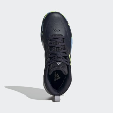Chaussure Own The Game Wide Bleu Enfants Basketball