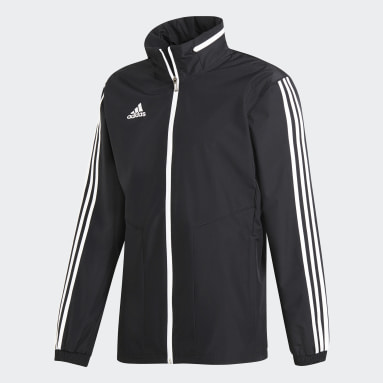 Men Soccer Black Tiro 19 All-Weather Jacket