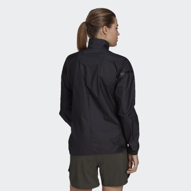 Women's Trail Running Black Agravic Trail Parley Wind Jacket
