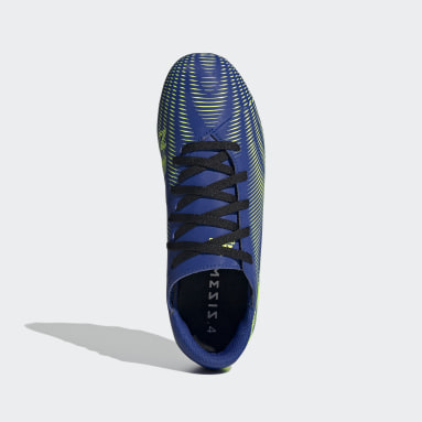 Botines Nemeziz.4 Terreno Flexible Azul Niño Fútbol