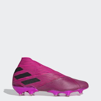 Men Football Pink Nemeziz 19+ Firm Ground Boots