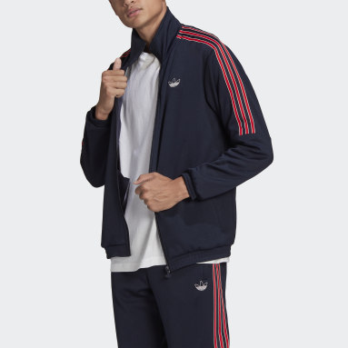 Men Originals Blue SPRT 3-Stripes Track Jacket