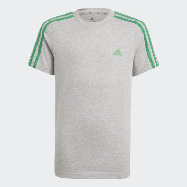 Jongens Sportswear Grijs adidas Essentials 3-Stripes T-shirt