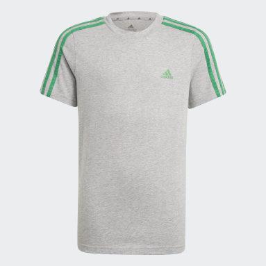 Camiseta adidas Essentials 3 bandas Gris Niño Sportswear