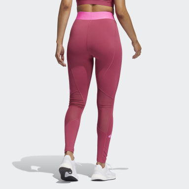 Women Training Pink Techfit Life Mid-Rise Badge of Sport Long Tights