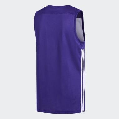 Men Basketball Purple 3G Speed Reversible Jersey