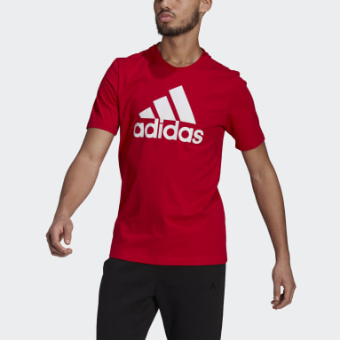 Heren Sportswear Rood Essentials Big Logo T-shirt
