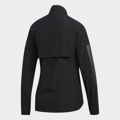 Campera Rise Up N Run Negro Mujer Running