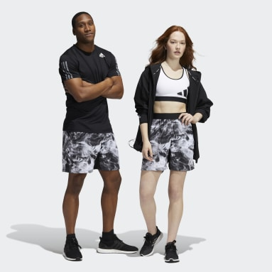 Gym & Training Black Unite Floral Shorts (Gender Neutral)