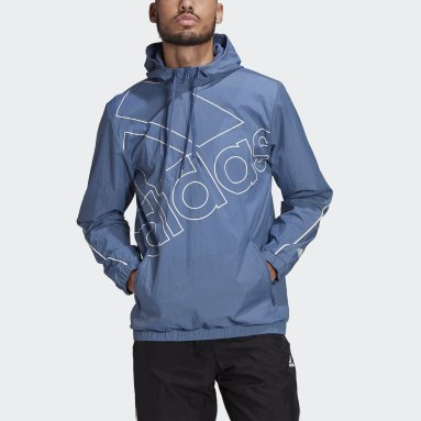 Men's Essentials Blue Essentials Giant Logo Windbreaker