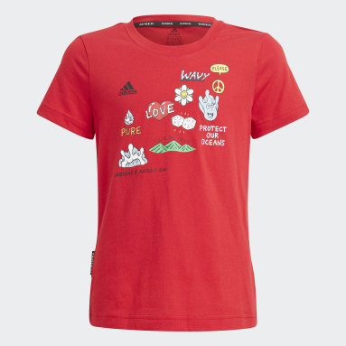 Girls Lifestyle Red Aaron Kai x adidas Graphic Tee
