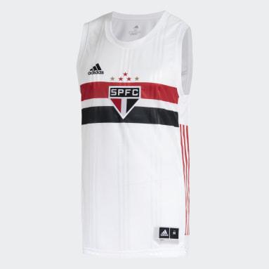 Camisa São Paulo FC 1 Branco Homem Basquete