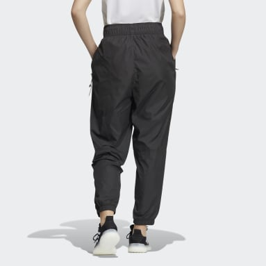 Women Sportswear Black Woven Pants