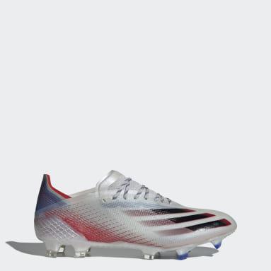 Botas de Futebol X Ghosted.1 – Piso firme Prateado Futebol