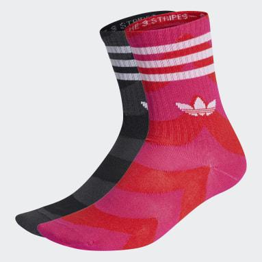 Originals สีชมพู ถุงเท้าความยาวครึ่งแข้ง Marimekko (2 คู่)