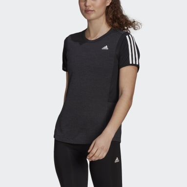 Women's Running Black adidas Own The Run Cooler Tee