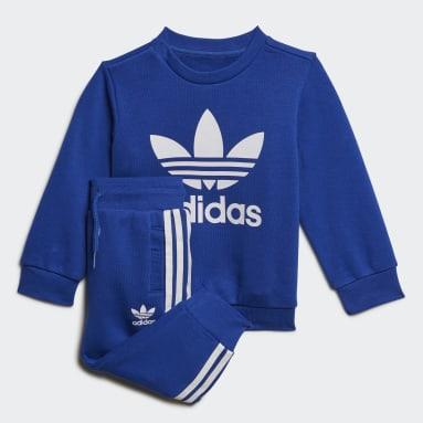 Conjunto Polerón de Cuello Redondo (UNISEX) Azul Niño Originals