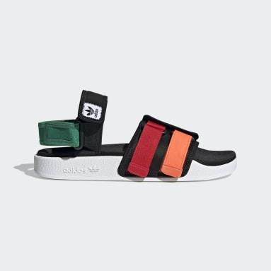 New Adilette sandaler Svart