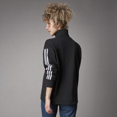 Kvinder Originals Sort Adicolor Classics Half-Zip sweatshirt