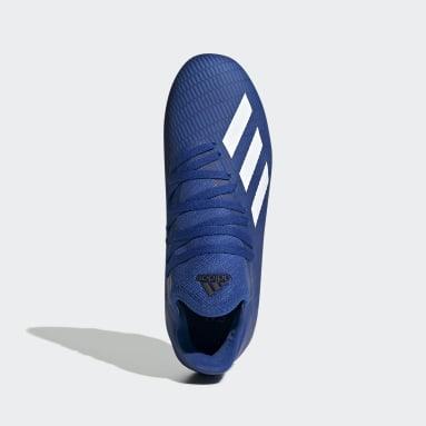 Zapatos de Fútbol X 19.3 Terreno Firme Azul Niño Fútbol