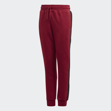 Kids Originals Burgundy Tape Pants