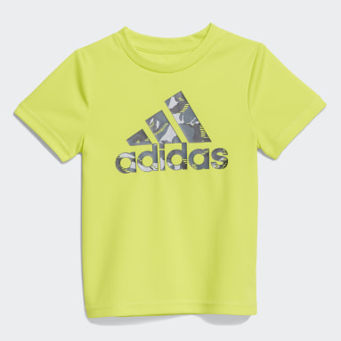 Infant & Toddler Training Yellow Action Camo Shorts Set
