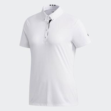 Women Golf White Polo Shirt