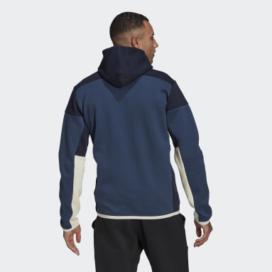 Men Sportswear Blue adidas Z.N.E. Full-Zip Hoodie