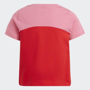 Girls Sportswear Red adidas Essentials Colorblock Tee
