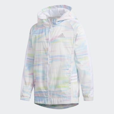 Children Training White Core Hooded Wind Jacket