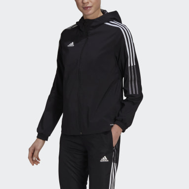 Women Soccer Black Tiro 21 Windbreaker