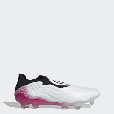 Soccer White Copa Sense+ Firm Ground Cleats